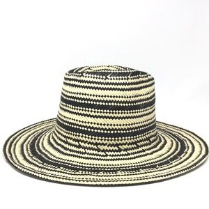NWT 14th & Union Patterned Striped Fedora